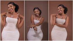 Very curvy young Nigerian lady shares banging body photos to celebrate herself, men want to marry her