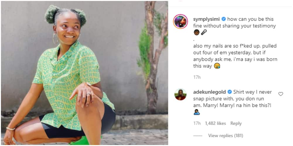 Marry! Marry! Na Hin be This? Singer Adekunle Gold Protests as Wife Simi Rocks his New Shirt