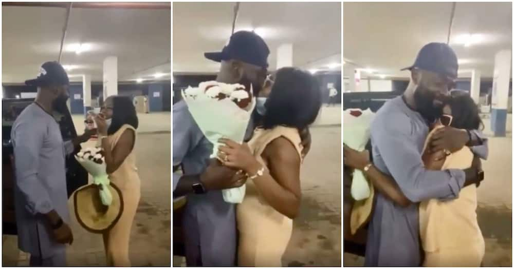 BBNaija star Khafi finally reunites with Gedoni after many months away from Nigeria (video)