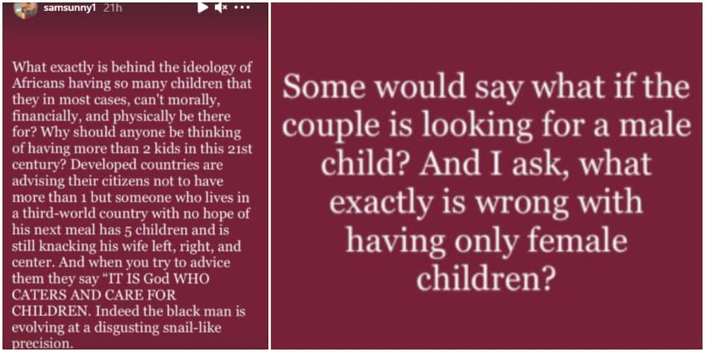 Sam talks about having kids