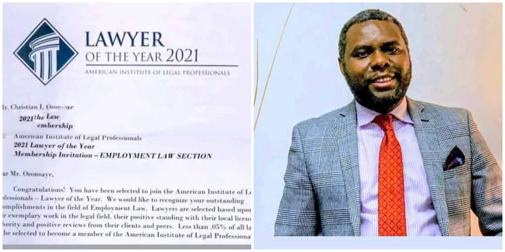 Man who Broke Record at the Nigerian Law School Celebrates as He Becomes an Attorney in the US