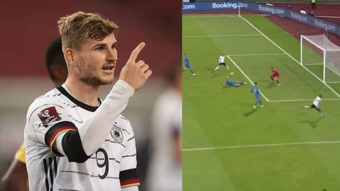Chelsea star Werner produces one of the worst misses in football, it is as bad as that of Yakubu