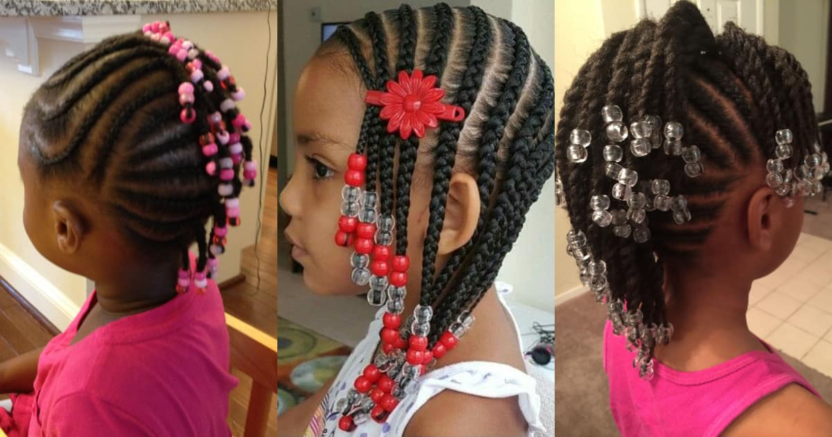 Toddler braided hairstyles with beads for girls ▷ Legit.ng