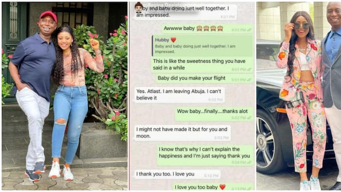 Hubby be giving me butterflies; Actress Regina Daniels says as she shares lovely chat with billionaire husband