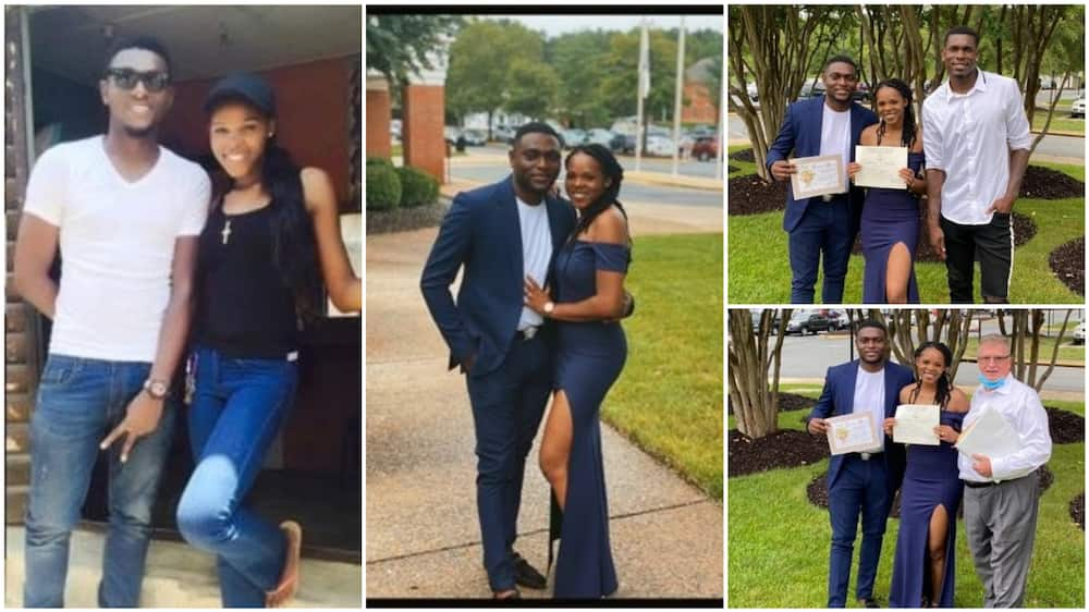 A collage showing the new couple. Photo source: Twitter/@iKingMillie