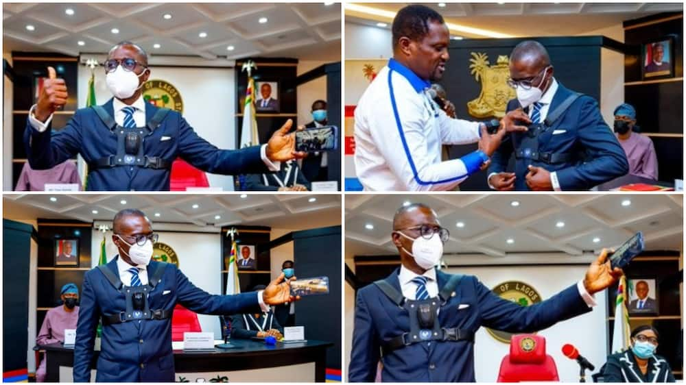 Sanwo-Olu Puts on Body-Worn Cameras, Shares Photos as He Launches New Equipment for Security Personnel