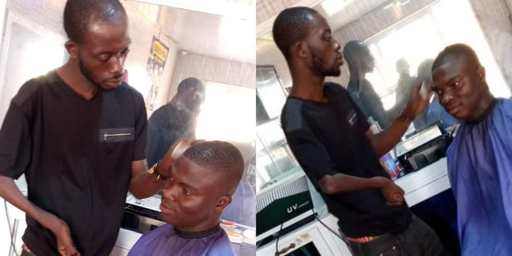 Young man recounts how disabled barber gave him the best haircut of his life