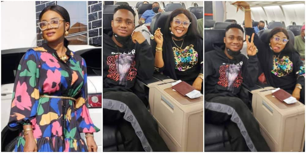 Iyabo Ojo jets off to turkey to spend quality time with her son (photo)