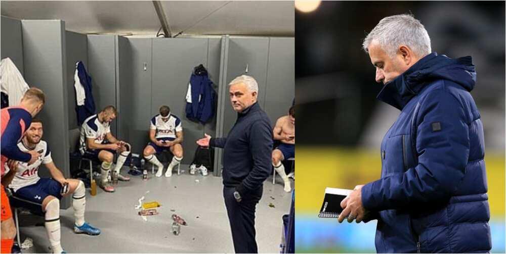 Jose Mourinho jokingly tells Tottenham stars about their phone addiction