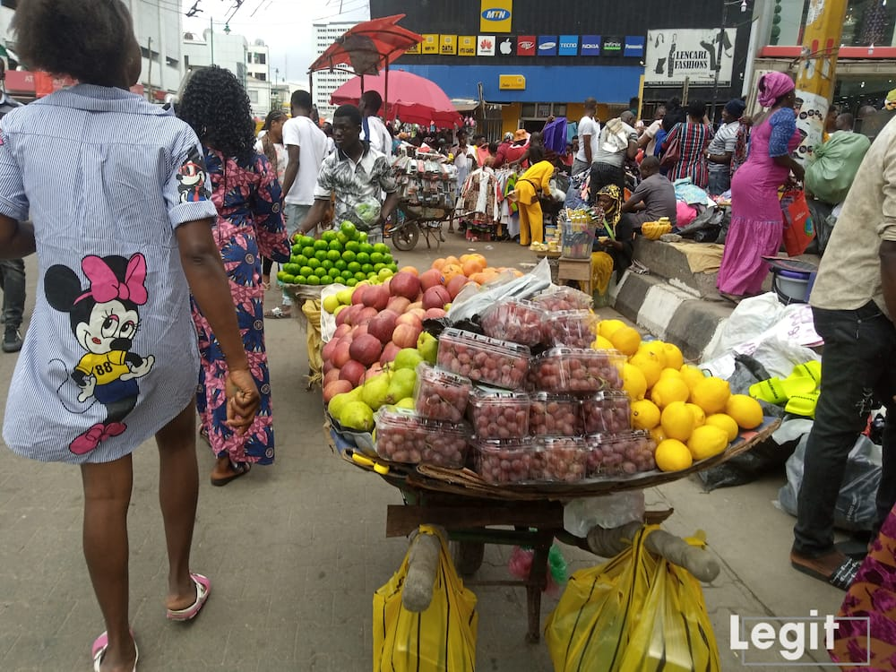Some of the fruits on display are almost out of season hence they are a bit expensive. Photo credit: Esther Odili