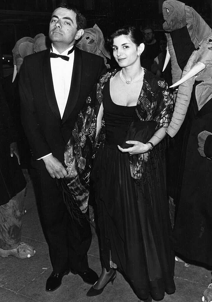 Sunetra Sastry and Rowan Atkinson