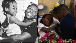 I was moved to tears - Small Doctor says as he visits survivors of Lagos building collapse in hospital (photos)