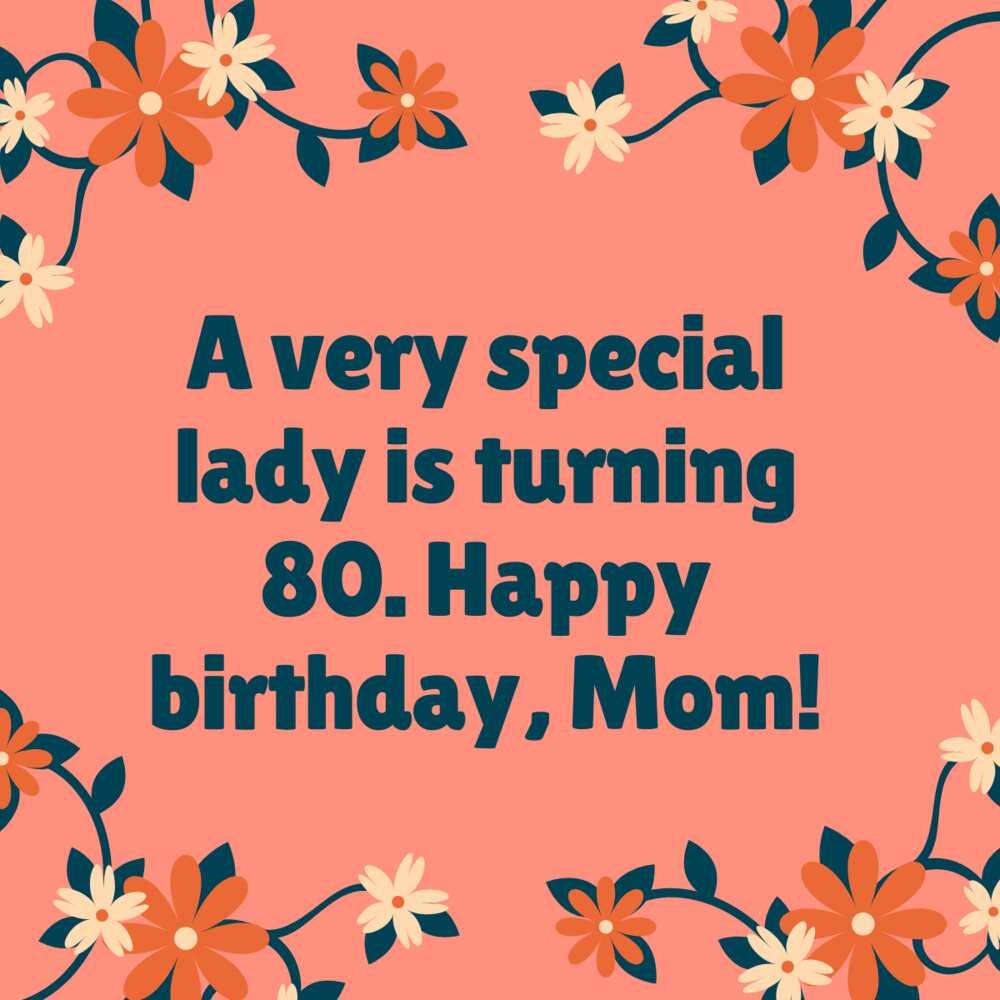80th birthday greetings