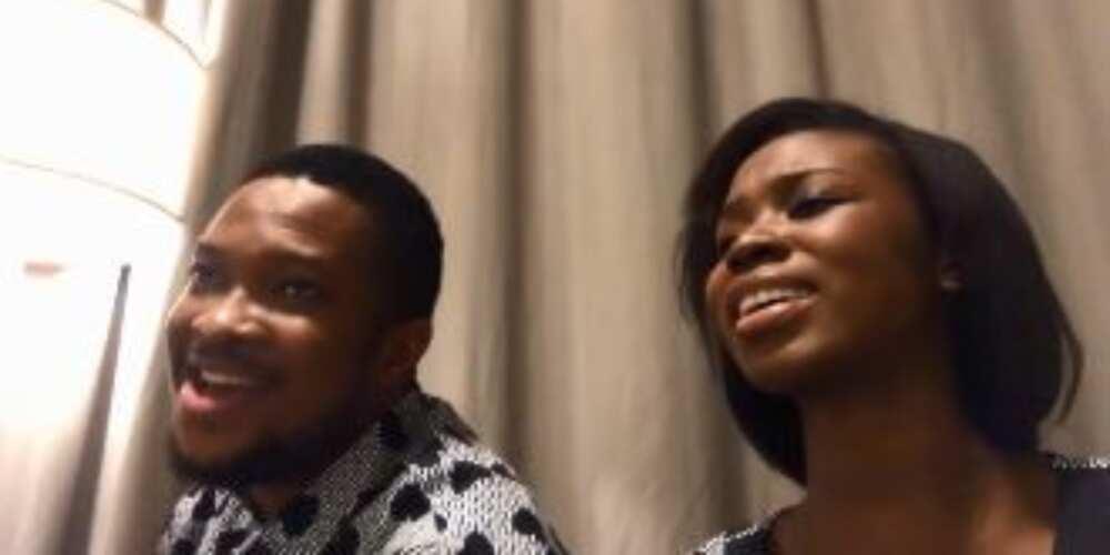 Mike Bamiloye's newlywed daughter Darasimi and husband sing for Nigeria