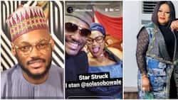 I'm star-struck: 2baba declares as he meets King of Boys actress Sola Sobowale in Abuja