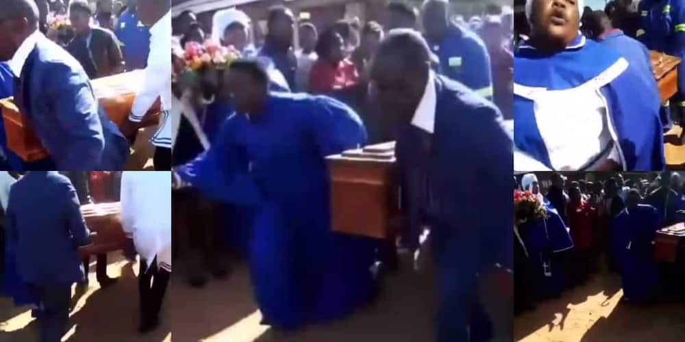 """""""It's Too Much"""": SA Reacts to Clip of Folks Running Around With Coffin"""