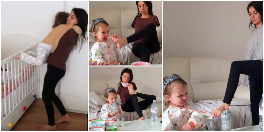 Social media reacts to adorable video of armless mum feeding and caring for her little daughter, many gush