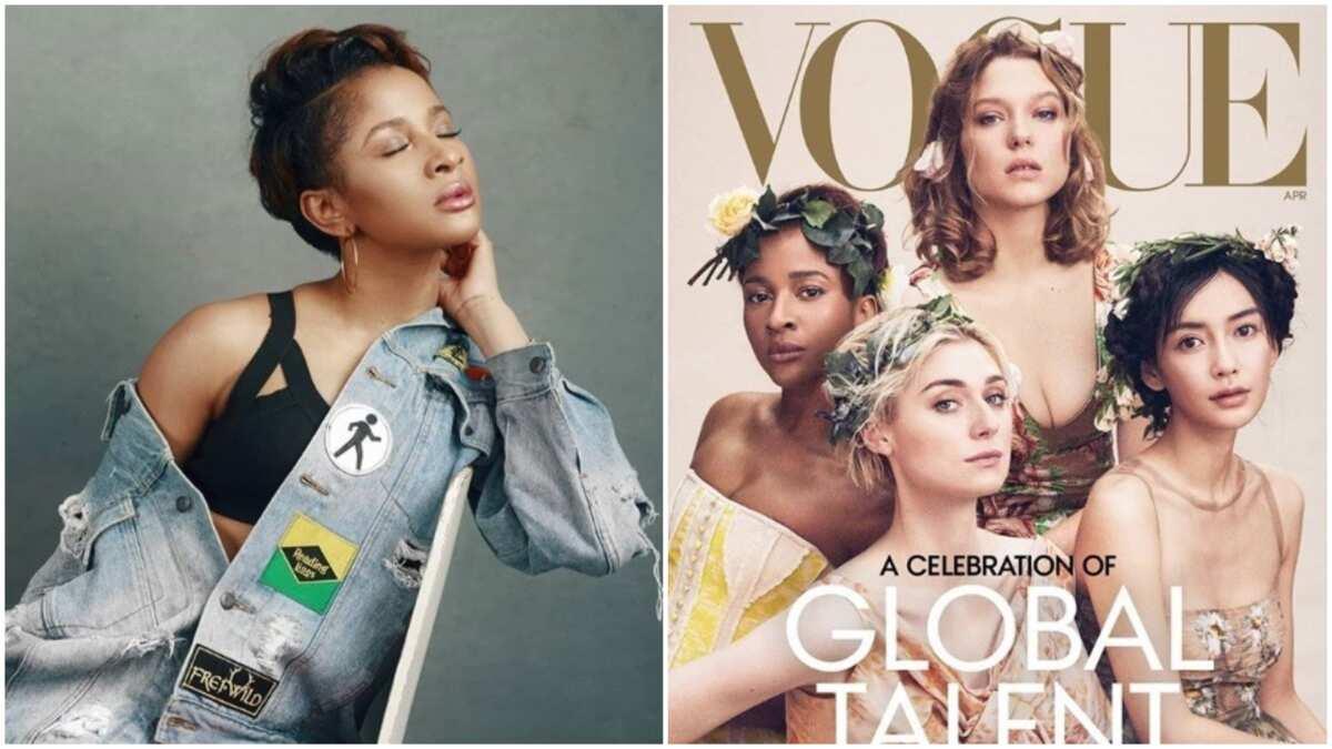 Adesua Etomi reacts to controversy trailing her Vogue magazine cover