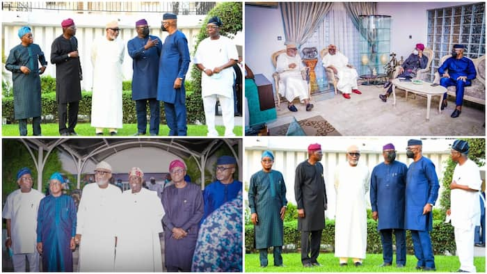 Details emerge as southwest governors meet behind closed-doors, visit Tinubu in Lagos