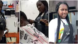 I had worked at a strip club; Pretty 23-year-old lady who is a professional barber says in touching video