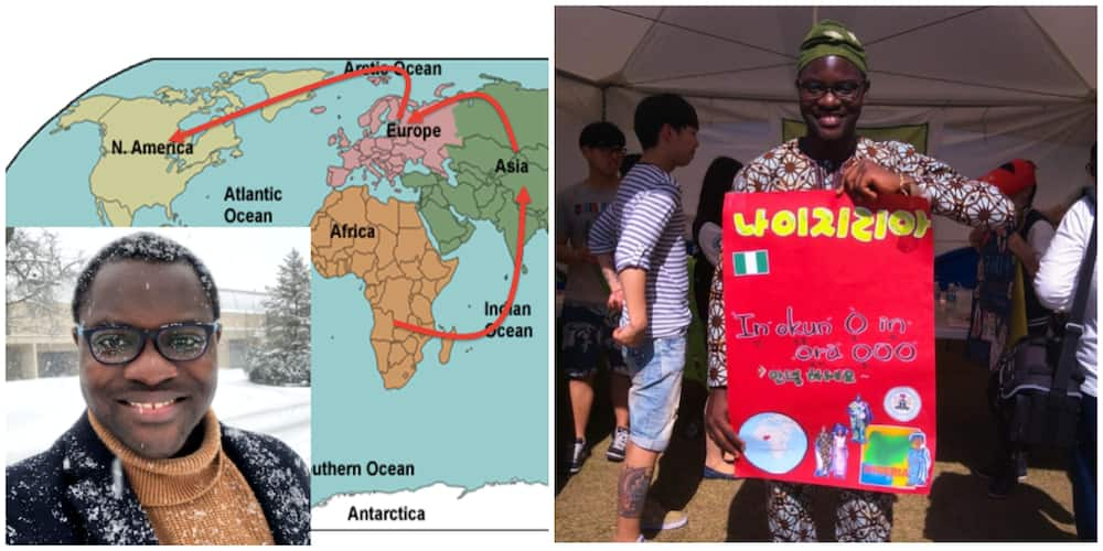 Nigerian Man Who Wrote WAEC 10 Times Celebrates Himself, Says He Has Now Travelled 4 Continents on Scholarship