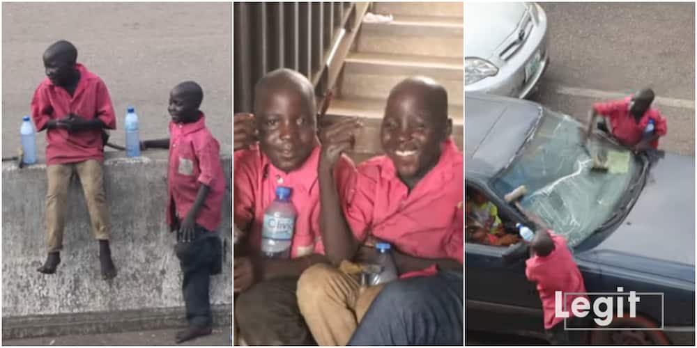 Nigerian Twin Hustlers in Benin whose Father Sells Suya in Kano Say they want to Go to School in Cute Video