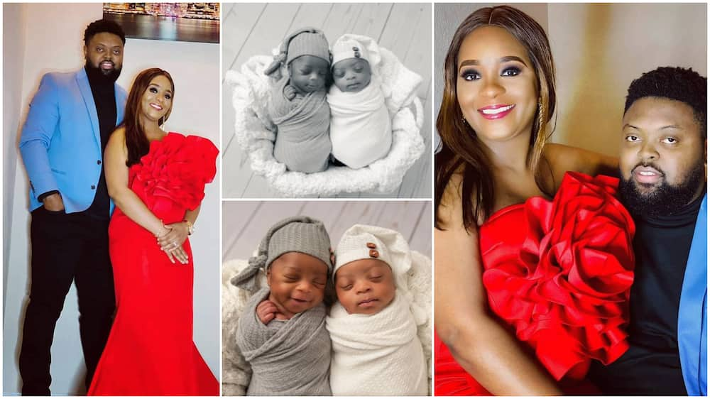 Nigerian man welcomes his twins, gives them lovely photoshoot