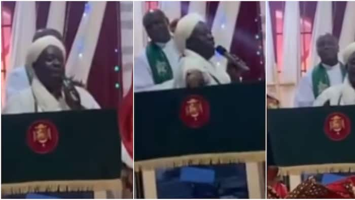 Chief Imam visits and prays with congregation during church service, adorable video causes massive stir