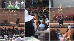 This is not Nigeria: Young man sprays 'N2m' during his graduation ceremony in US, police arrest him