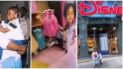 Nigerian singer Davido and first daughter Imade spend time at Disneyland, go shopping