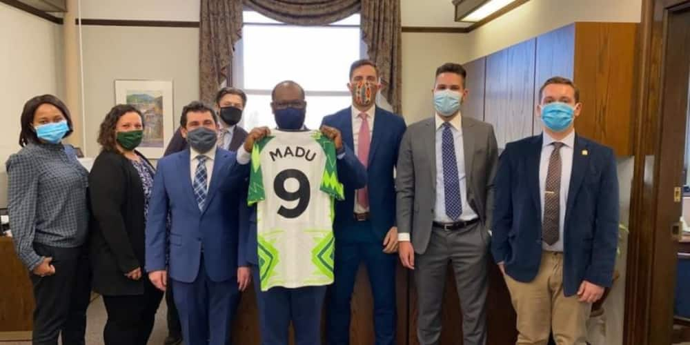 Nigerian man who is a minister of justice in Canada gifted his country's jersey; reveals why he didn't play football