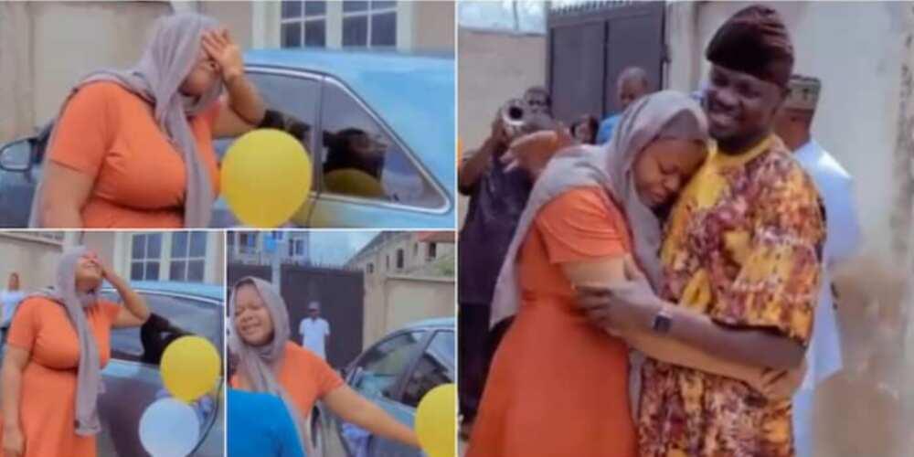 Daud Oreoluwa Balogun made gifted his wife a beautiful car