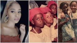 Adesua Etomi's beauty is timeless: Banky W gushes over wife's cute throwback photos