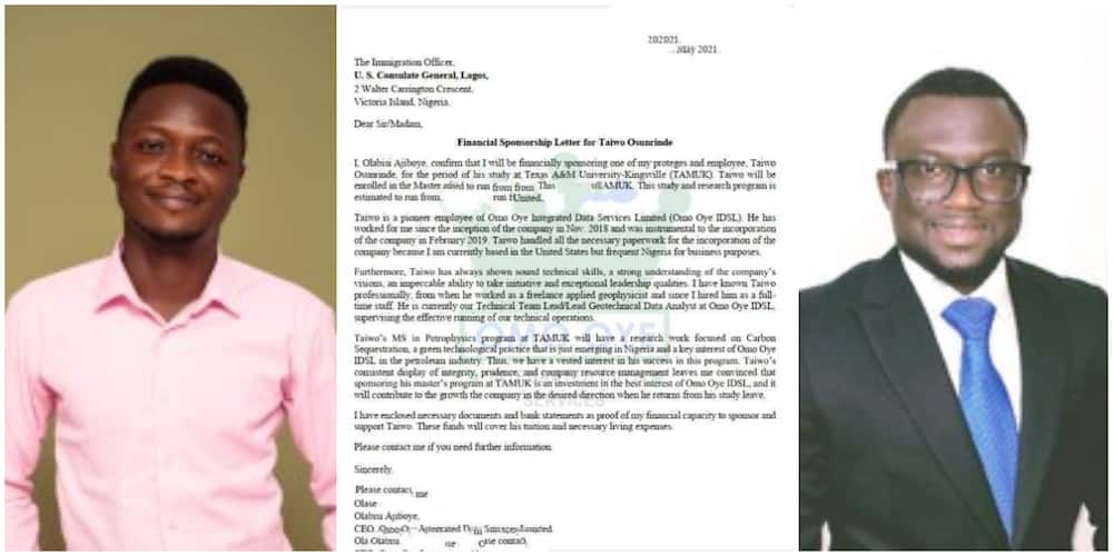 Graduate gets sponsored to America after helping US man he met online in 2018 set up business in Nigeria