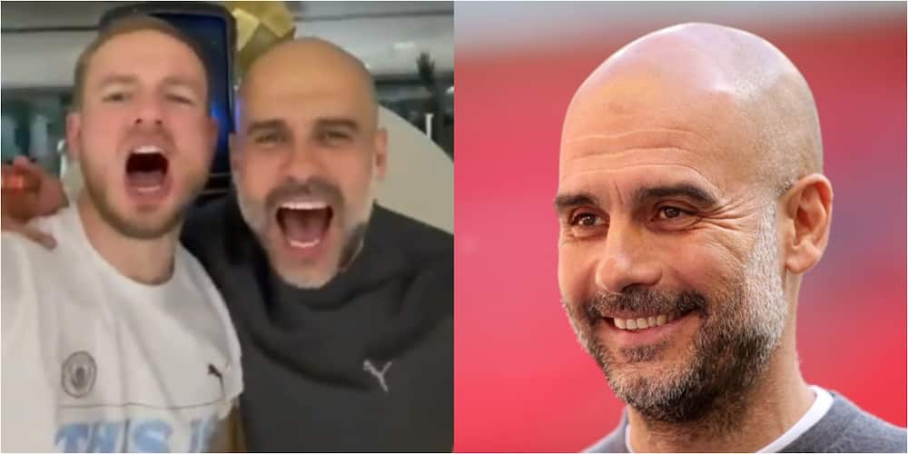 Man City boss Guardiola spotted doing the unusual during Premier League celebration party