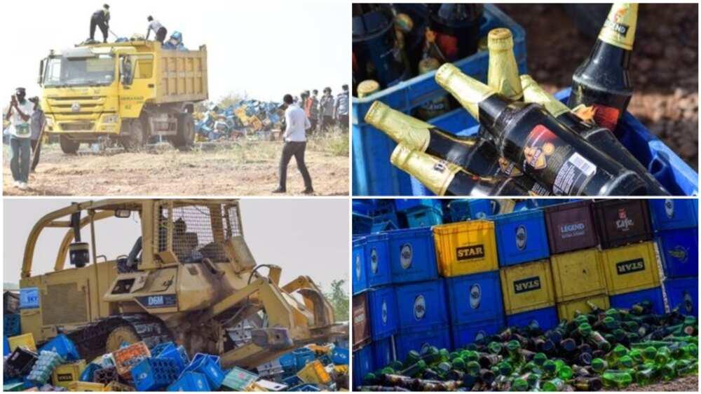 Hisbah destroys beer bottles worth N200m in Kano