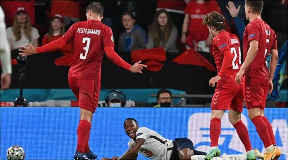 Angry fans blast referee after spotting strange thing on pitch before England's penalty vs Denmark