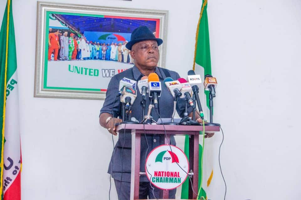 Uche Secondus may be sacked as PDP national chairman.