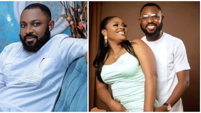 This is a strategy: Reactions as Tega's husband says she's spiting him because he cheated