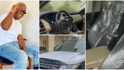 Who is his sugar mummy? Reactions as actor Timini Egbuson buys brand new Range Rover on 34th birthday