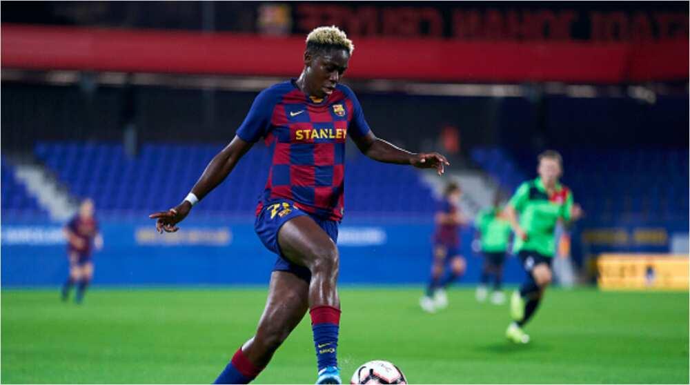 Asisat Oshoala's Barcelona teammates say she's the fastest, funniest, best dancer