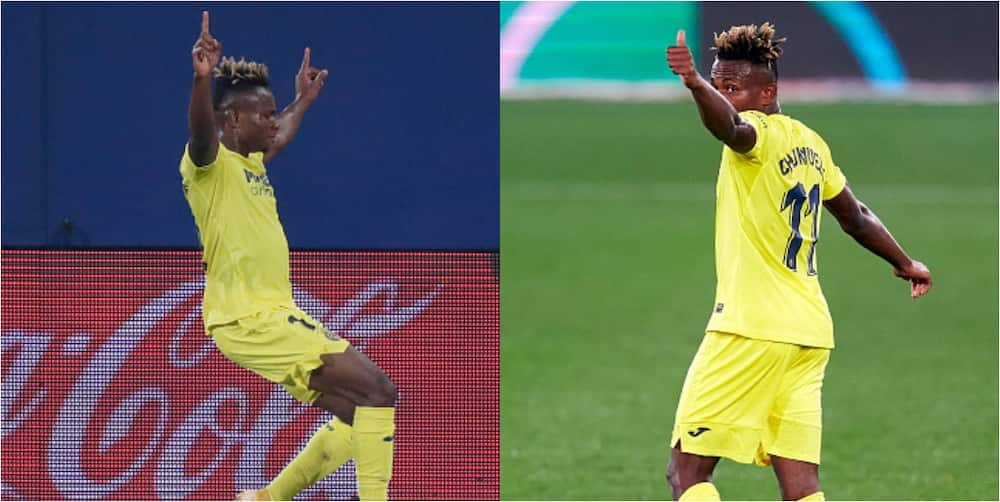 Samuel Chukwueze scores in Villarreal's 2-0 win over Real Valladolid
