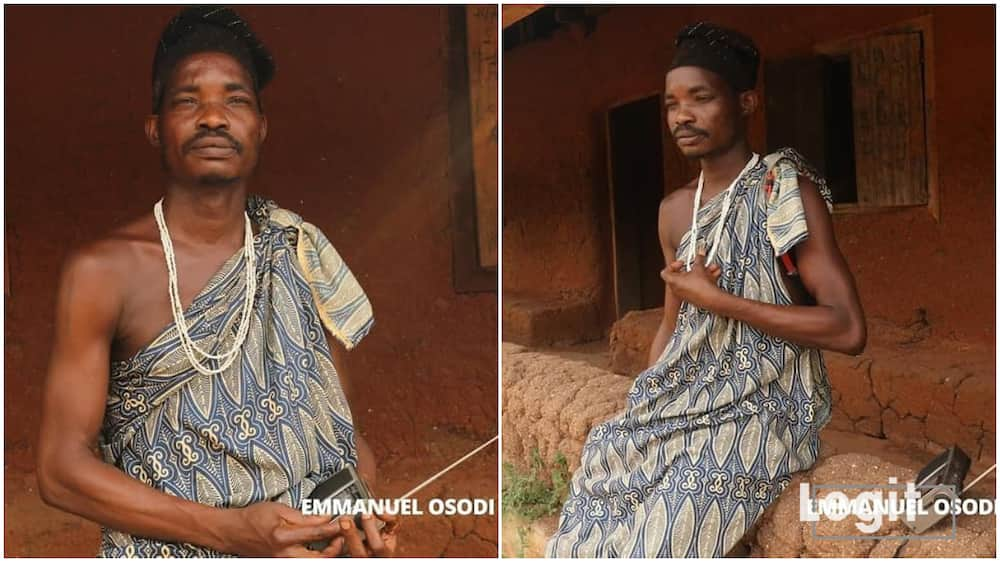 I won't wear any cloth till death comes - Nigerian traditionalist makes revelation in new video