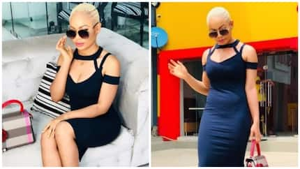 Nina dazzles fans as she goes blonde in new photos