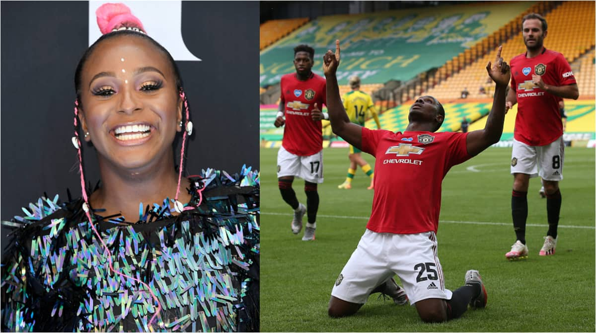 DJ Cuppy dumps Arsenal for Man United after Ighalo scores in 2-1 win at Norwich