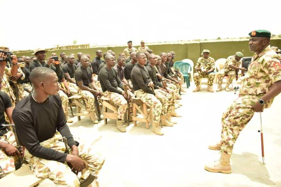 Nigerian troops in northeast