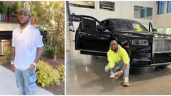 Na wetin Davido dey use make noise: Man shares video of Rolls Royce randomly parked by roadside in Dubai