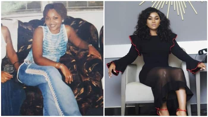 Actress Mercy Aigbe joins the 10 years challenge with cute throwback photos