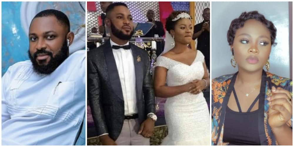 Photos of Tega and her husband.