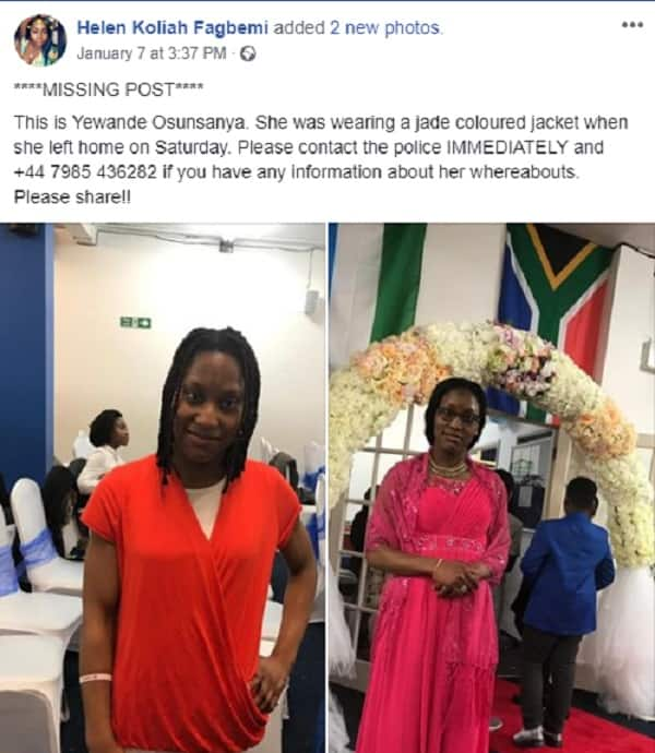 25-year-old Nigerian lady declared missing in London (photos)